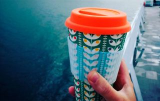 Reusable cup for plastic free travel