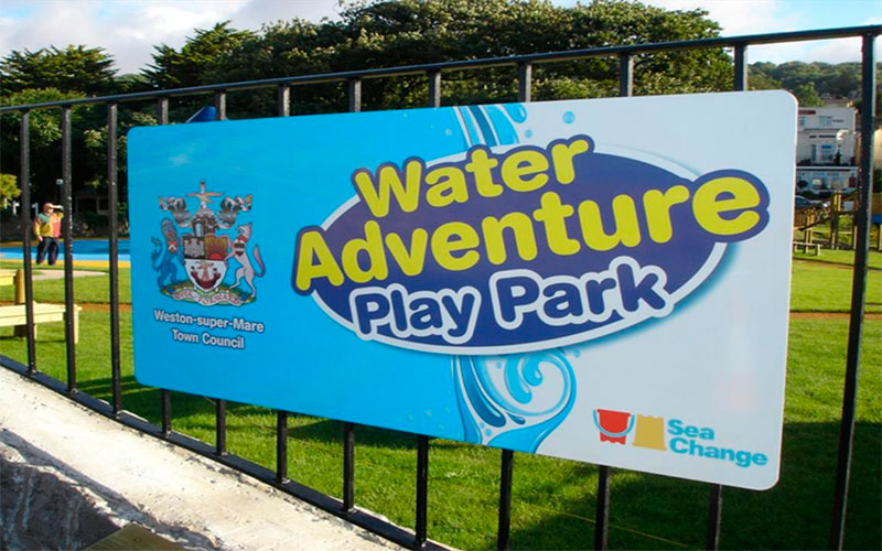 Weston-super-Mare Waterpark Sign