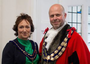 A photograph of the Mayor and Mayoress