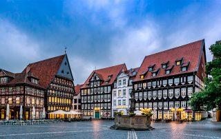 Hildesheim streets are quiet