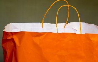 Orange shopping bag