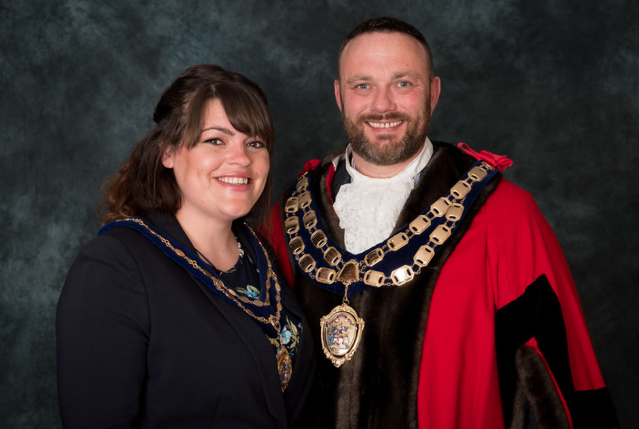 Councillor James Clayton Weston-super-Mare Town Mayor 2021 - 2022 and Miss Kaylee Rose