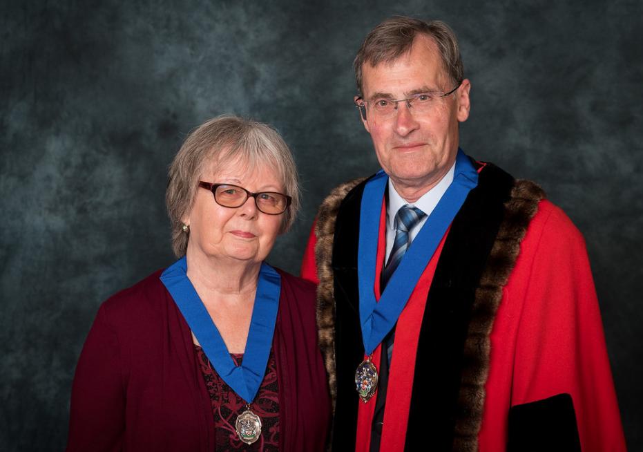 Councillor and Mrs Roger Bailey Weston-super-Mare Deputy Mayor 2021 - 2022